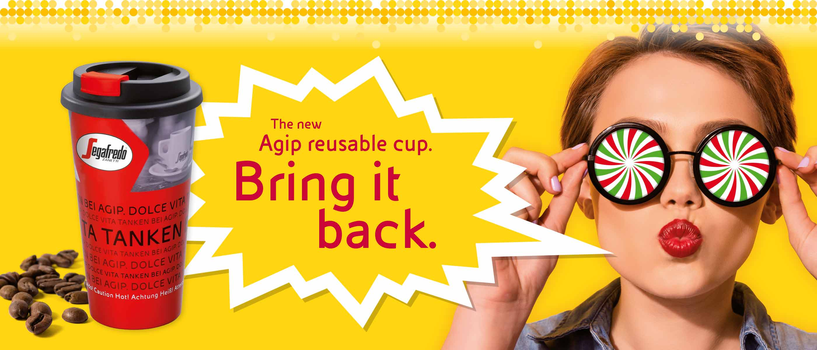 The new Agip Reusable Cup