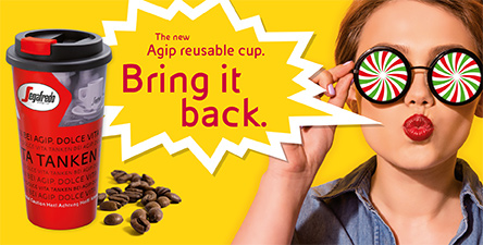 The Agip reusable cup